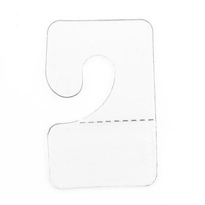 Clear Hook Hang Tabs Slatwall Adhesive Hangers Pack of 100