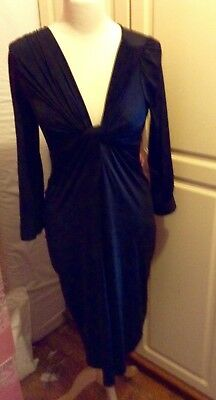 stunning polyester black dress by Limited Edition, Marks and Spencer size 8