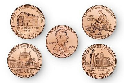 2009 Lincoln Bicentennial penny set P&D mints (8 coins) collectible historical