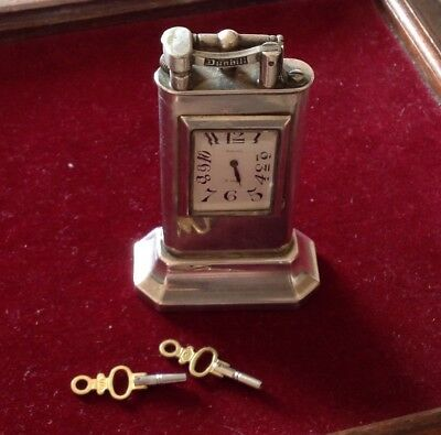 Rare Dunhill UNIQUE Table Lighter orologio 8 days MADE IN SWITHERLAND