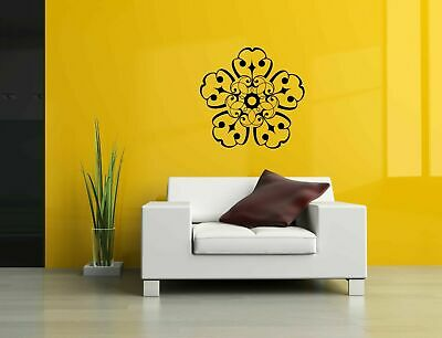 Wall Vinyl Sticker Decal Mural Design Art Flower Mandala Ornament Yoga bo408