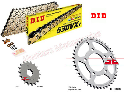 Triumph 900 Thunderbird Heavy Duty DID Gold X-Ring Chain & JT Sprockets Kit