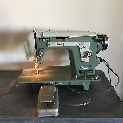 VINTAGE NEW HOME Sewing Machine Model 40 Good Condition With Foot Adorable New Home Sewing Machine Foot Pedal