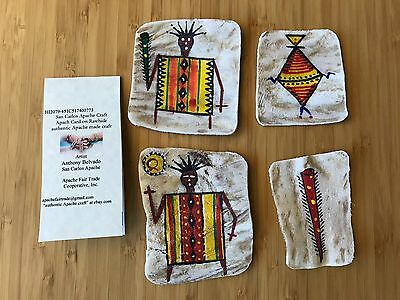 authentic apache craft traditional Apache rawhide card 773