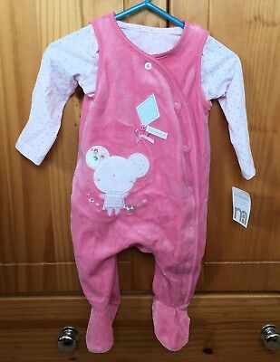 Pink Trousers Over Vest - Mothercare  0-3months - brand new with tags