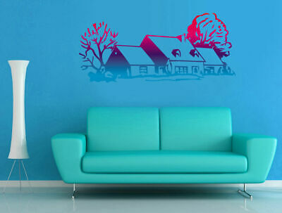 ced190 Full Color Wall decal Sticker Tree House living room bedroom