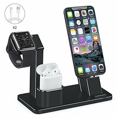 Aluminum Charging Stand 4 in 1 Charger f/ Apple iWatch Airpods iPhone iPand Mini