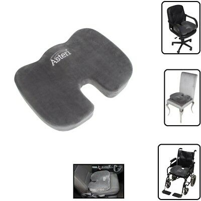 Memory Foam Seat Cushion Non Slip Base Orthopaedic Lumbar Support Premium Health