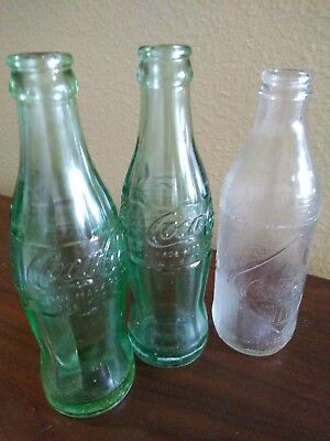 Vintage Coca Cola Coke Bottles - Lot of 3 - Great additions to your collection!