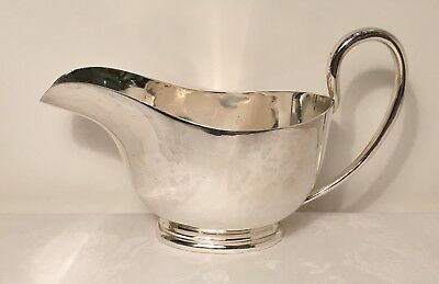 Huge Silver Plated Cream~Sauce~Gravy  Boat~Excellent Condition