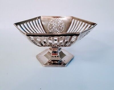 Fine Pairpoint Quadruple Plate Center Bowl Reticulated & Engraved  - STUNNING!!!