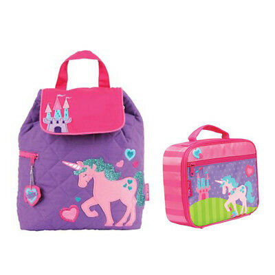 Stephen Joseph Lunch Box & Quilted Backpack Unicorn Unisex Kids Lunch Box & Back