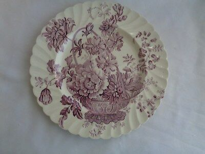 Royal Staffordshire Made In England Clarice Cliff Charlotte Purple Dinner Plate