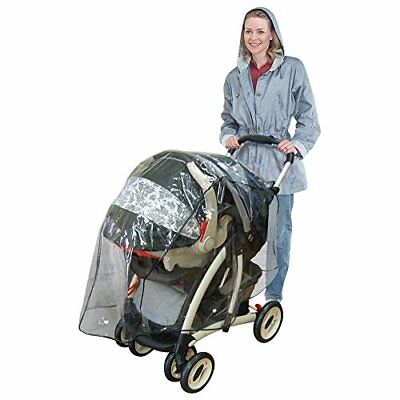 J is for Jeep Jogging Universal Stroller Weather Shield Baby Rain Cover Canopy