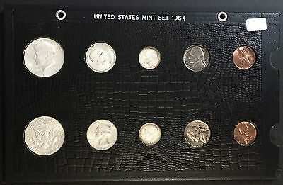 1964 PD Uncirculated US Coin Set In Nice Display Holder #UET#