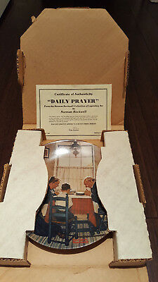 Norman Rockwell Limited Edition Collector Plate 'Daily Prayer""