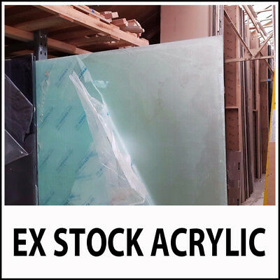 EX STOCK 5mm Frosted Perspex Acrylic Plastic Sheet Cut 2 Size Translucent Glass