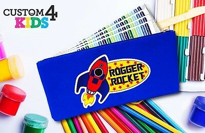 Blue Kid's Personalised Pencil Case for School