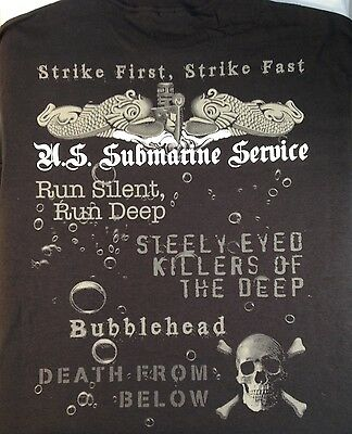 US Navy Submarine Service T-Shirt Made in the USA Sub Vet STRIKE FIRST America