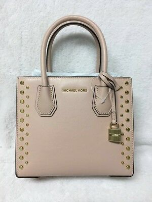 6048d3e3007a Michael Kors Studio Mercer Medium Stud & Grommet Cross-Body Bag Color-  Ballet