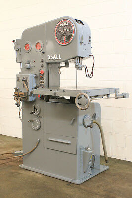 "16"" Thrt 12"" H DoAll 1612-3 VERTICAL BAND SAW, Vari-Speed, Hyd-Tbl Feed, Blade W"