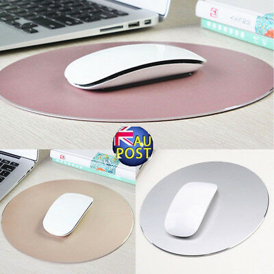 Round Aluminum Pad Mousepad Gaming Mat Mouse For Macbook Apple Computer PC MN