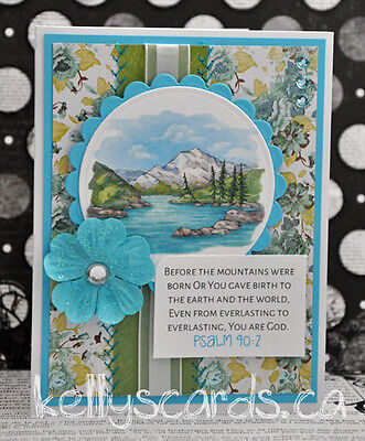 Sewn Greeting Cards Religious Scriptures Paper Piecing Premade Lord God Jesus