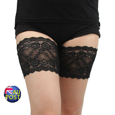 Womens Lace Elastic Socks Non Slip Anti-Chafing Thigh Bands Prevent Leg Warm MN