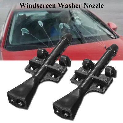 For Vauxhall Meriva A 03-10 Pair Front Windscreen Washer Jet Nozzle Water Spray