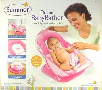 Summer Infant Mother's Touch Deluxe Baby Bather Pink Bath Tubs Bathing Girls