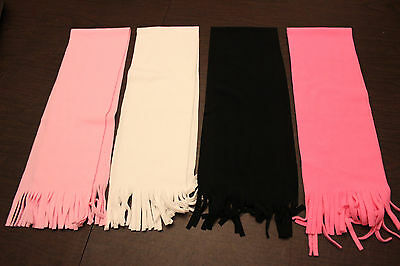 Girl Child Toddler Teen Adult WINTER FLEECE SCARF Soft Pink White Black FROZEN