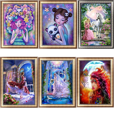Butterfly Girl DIY 5D Diamond Painting Embroidery Cross Stitch Animal Home Decor