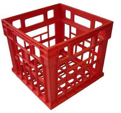 1 x Milk Crate 30L Plastic Storage Tubs Containers Strong Hobby Bin Crates Box