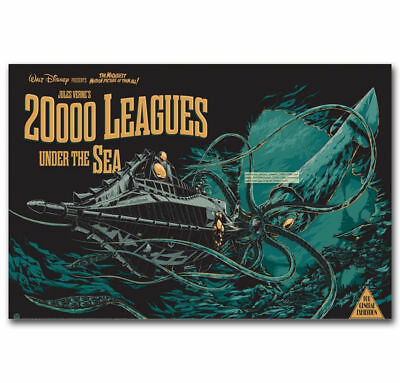 """Art Under the Sea 20000 Leagues Most Amazing Movie Poster -24x36"""" 27"""" P-475"""