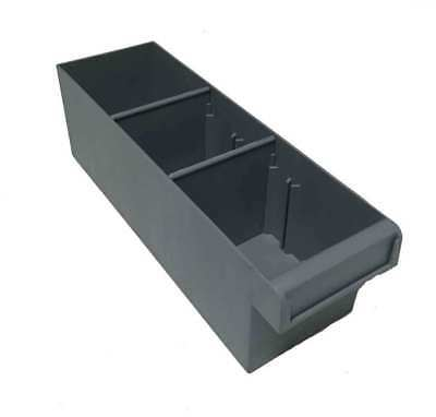24 X Plastic Spare Parts Tray 300L x 100W x 100H Compartment Divider Storage Bin
