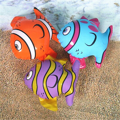1~10X Inflatable Blow Up Toys Striped Fish Hawaiian Beach Pool Fancy Dress Party