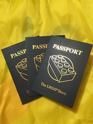 Lot Of Three Lego Store Passports - Brand New! - Unstamped MINT
