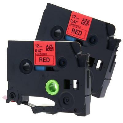 TZ-431 TZe-431 P-touch Label Tape Compatible for Brother 12mm Black on Red 2pk
