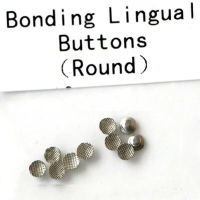 10PCS Dental Orthodontic lingual buttons Mesh Round base Lingual Button
