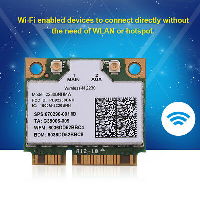 Wireless-N 2230 2230BNHMW 300Mbps WiFi Bluetooth 4.0 Mini PCI-E Card For Intel