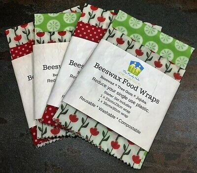Beeswax or Vegan Food Wraps REDUCED, Zero Waste - Various Pack Sizes Available