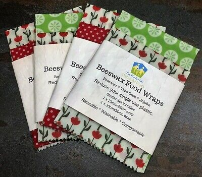 Beeswax or Vegan Food Wraps Reduced- Various Pack Sizes Available