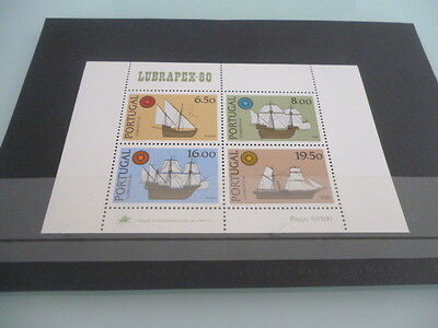 portugal 1980 Lubrapex 80   mnh  mini sheet  ships