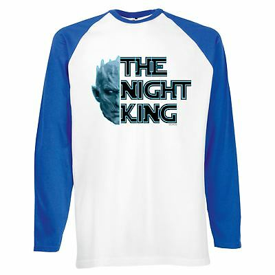 Mens Funny Shirts-Knight King-White Walker Game of thrones Style-Long Sleeve 028