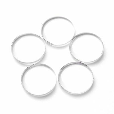 5/10/20pcs Transparent Round Clear Glass Cabochon Dome Glass Cover 8mm-35mm