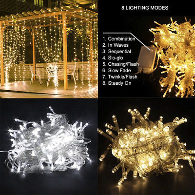 Waterfall LED String Fairy Lights Wall Window Curtain Lights  Wedding Backdrop