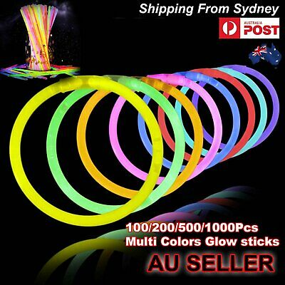 100-1000Pcs Mixed Colour Glow Sticks Bracelets Party Glowsticks Glow in the dark