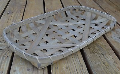 "Tobacco Basket Farmhouse Decor Small Wooden Wall Or Table Centerpiece (21"" x ..."
