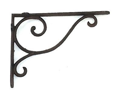 Aunt Chris' Products - Wrought Iron - Shelf Bracket With Simple Thin Victoria...