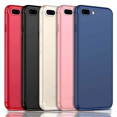 Ultra Thin Dirtproof Silicone Rubber Full Cover Case for iPhone X 6 7 8 Plus RA